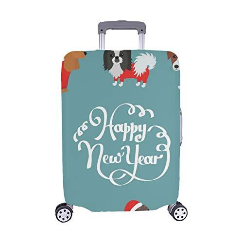 Grußkarte 2018 Frohes Jahr Spandex-Trolley-Koffer Reisegepäck-Schutzkoffer-Abdeckung 28,5 X 20,5 Zoll