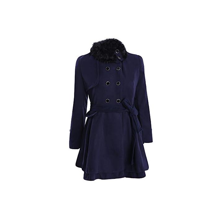 URSING Damen Winter Jacke Elegant Slim Fit Winterparka Dicker Parka Mantel Lange Winter Outwear Wintermantel Warm…