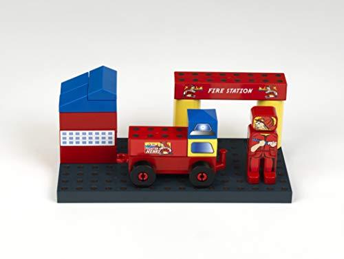 klein- Caserne de Pompiers Manetico, 0017, Rouge, Bleu, Jaune, Etc