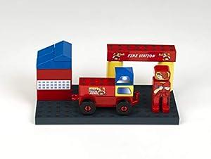 Theo Klein-17 Manetico set bomberos, bloques de construcción magnéticos, edad 1+, juguete, Multicolor (17)
