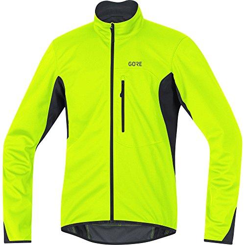 GORE Wear Winddichte Herren Fahrrad-Jacke, C3 GORE WINDSTOPPER Jacket, M, Neon-Gelb/Schwarz, 100338