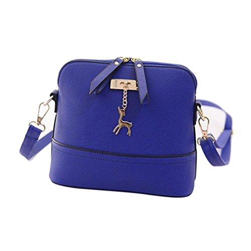 Mr yyg Fashion Campi respirare semplice pacchetto di shell borsa a tracolla blue