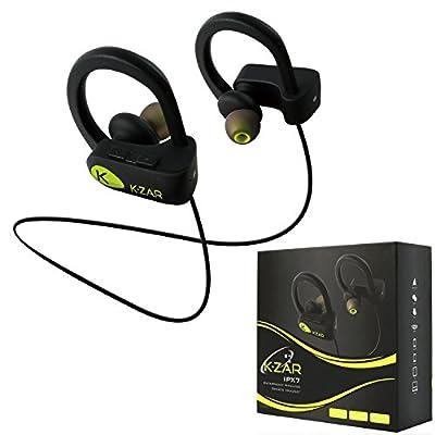 K-ZAR Écouteur Bluetooth Sport IPX7 Etanche Casque sans Fil Stéréo avec Mic Intra-Auriculaires Anti-Bruit Oreillettes Bluetooth Mains-Libres Batterie Longue durée pour Course/Gym/Jogging par K-ZAR