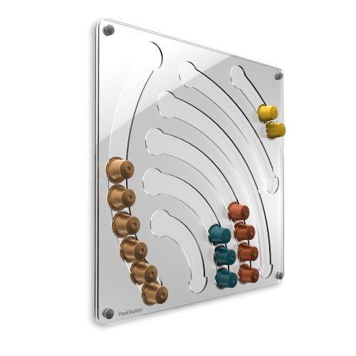 PlexiDisplays - Dispenser per capsule caffè Nespresso, colore: Trasparente