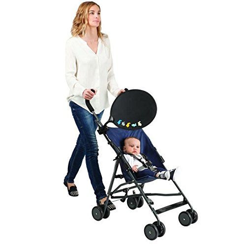 BabySun-Parasol universal para carrito, color negro