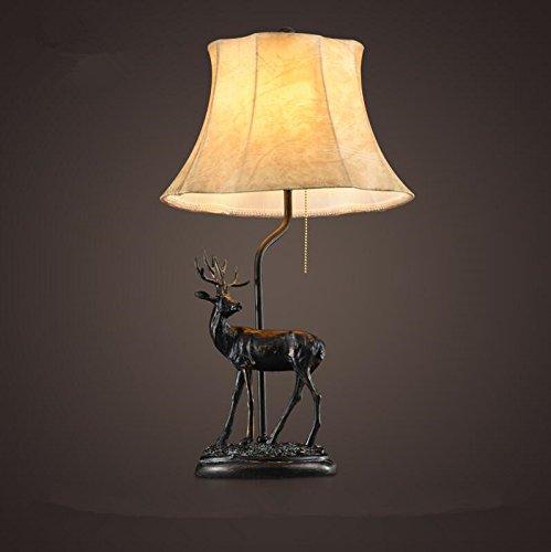 GQLB La testa del letto è decorata con lampada elk E27 comodino (Piccolo Elk)