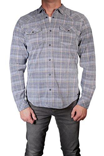 Blue Cord Langarm-shirt (Garcia I71029-2464 Herren Cord-Hemd langarm Denim Blue: Kragenweite: 41/42-L)