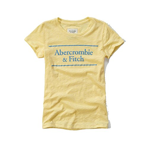 abercrombie-fitch-womens-logo-graphic-t-shirt-in-yellow-new-collection-x-small