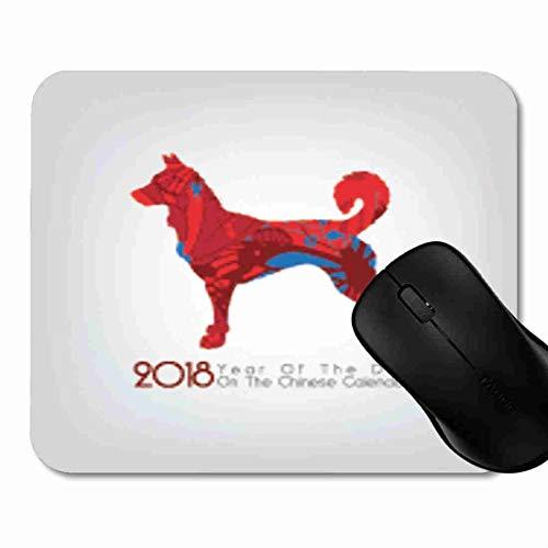 Mauspad Asien rotes chinesisches neues Jahr Rutschfeste Gummi Basis Mouse pad, Gaming und Office mauspad für Laptop, Computer PC 1H1844