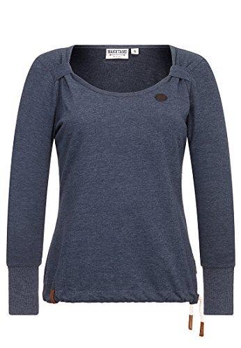 Naketano Female Sweatshirt Big Dudelsack Flavour Indigo Blue Melange, M