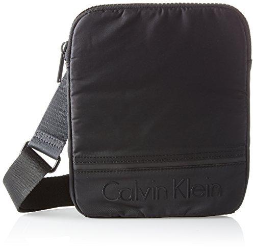 Calvin Klein Herren Matthew 2.0 Flat Crossover Schultertasche, Schwarz (Black), 2x26x21 cm Preisvergleich