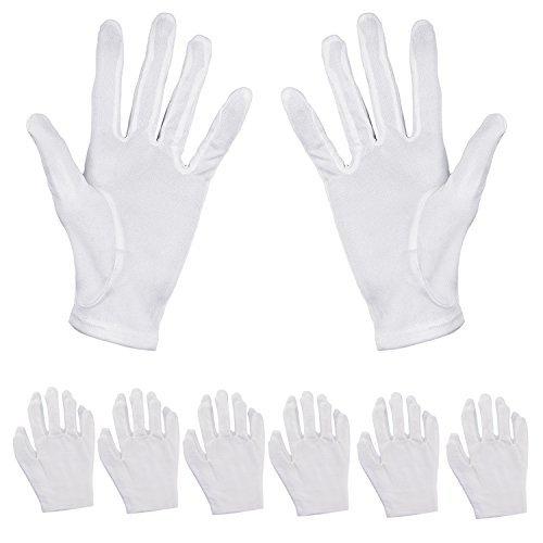 Aboat 6 Pairs Hand Moisturizing Gloves,White Cotton Gloves for Moisturizing