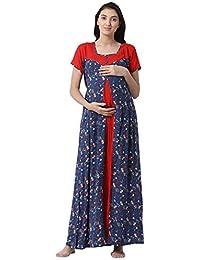 62b3f1614fb9 GOLDSTROMS Minelli Women s Full Length Rayon Fabric Maternity Nursing Feeding  Gown