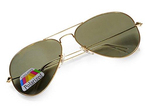 4sold Jungen Polarized Sonnenbrille Kids in vielen Farbkombinationen Klassische Unisex Sonnenbrille (Black Gold Polarized)