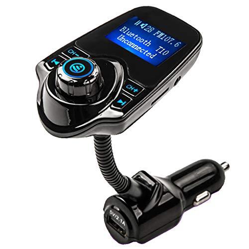 Gankmachine Screen Display Telefono per Auto Bluetooth Senza Fili ands trasmettitore Libero di FM USB MP3 Music Player LED Blu Caricabatteria da Auto