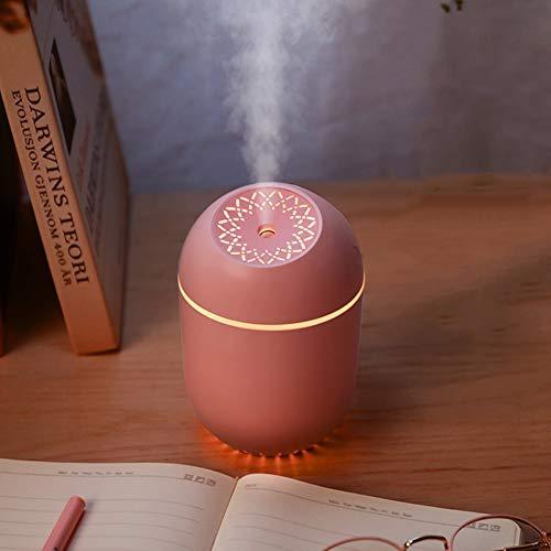 Hivexagon Mini portatile umidificatore Diffusore USB alimentato con luce a LED, 350ml fresco umidificatore nebbia per auto Home Office Travel