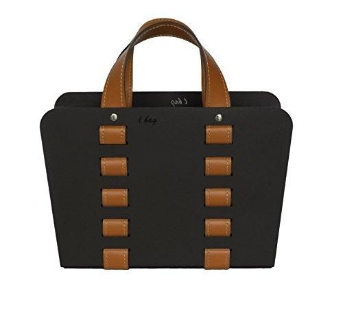 L-BAG 02: Zeitungsständer, Zeitschriftenständer aus Stahl mit Ledereinsätzen, Design von Limac.
