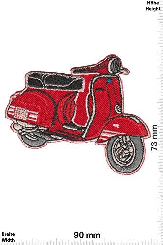 Patch - Vespa - Roller - rot - Motorrad - Motorrad - Vespa - Aufnäher - zum aufbügeln - Iron On Roller-patch