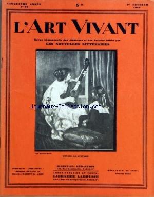 ART VIVANT (L') [No 99] du 01/02/1929 - LA GUITARE DE RENOIR