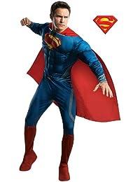 Rubies Costume Co R887157-M Herren Deluxe Superman Mann aus Stahl Kost-m Gr--e Large