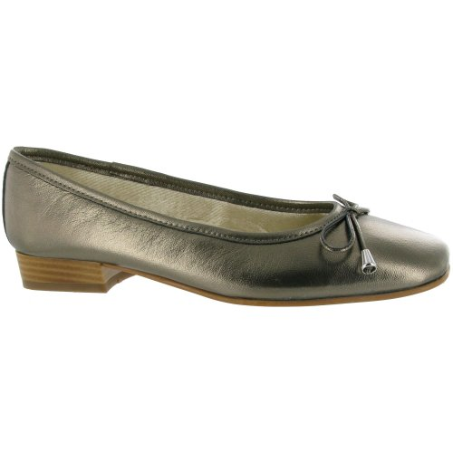 Riva Provence Chaussures Mesdames Ballerine en cuir Chaussures Femme Gris - Pewter