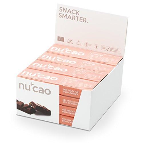 Nu Protein Bars (nucao – Espresso – Innovativer Superfood-Riegel mit Hanfsamen & Roh-Kakao – Low Carb – Vegan – Bio – Clean Eating – Paleo – 16er Box – Hergestellt in Deutschland)