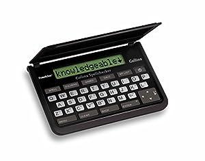 LEXIBOOK SPQ-109 Collins Spellchecker, Solvers, Word Games, Metric and Currency Converter, Funciona con Pilas, Color Blanco y Negro