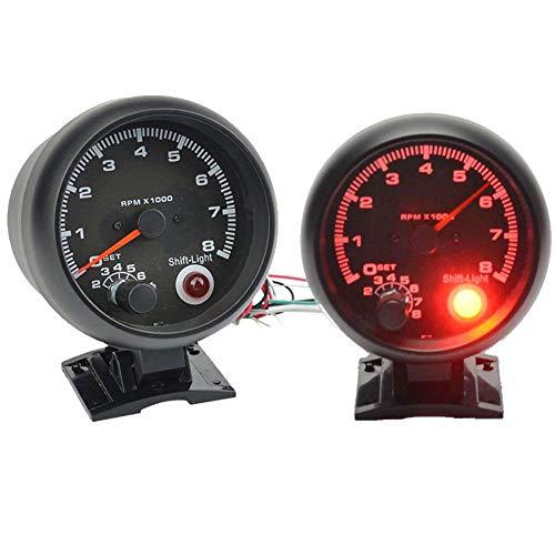 Universeller Tachometer, 8000 U/min, Tacho-Drehzahlmesser, mit rotem LED-Licht, passend für 4/6/8 Zylinder, Benzin, Auto - 4-licht-zylinder