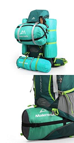 Professional Klettern Rucksack groß Kapazität 70L Trekking Rucksäcke Wasserdicht Wandern Rucksack interne Rahmen Rucksack für Outdoor Wandern Reise Klettern Camping Bergsteigen mit Regenschutz rotviolett
