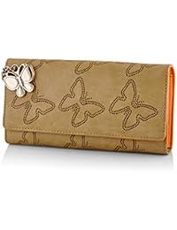 Butterflies Women's Wallet (Beige) (BNS 2383BG)