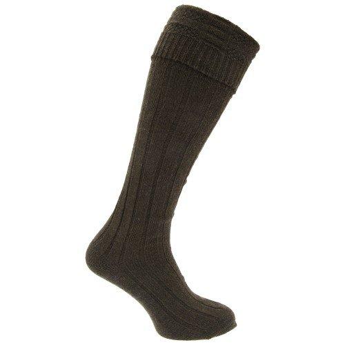 Chaussettes hautes écossaises (1 paire) - Homme (39-45 EU) (Kaki)