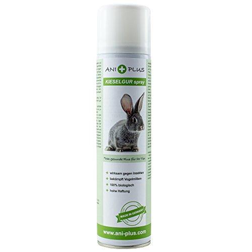 AniPlus - Kieselgur Spray 400 ml für Kaninchen & Nager gegen alle kriechenden Insekten und Schädlinge (100% biologisch)