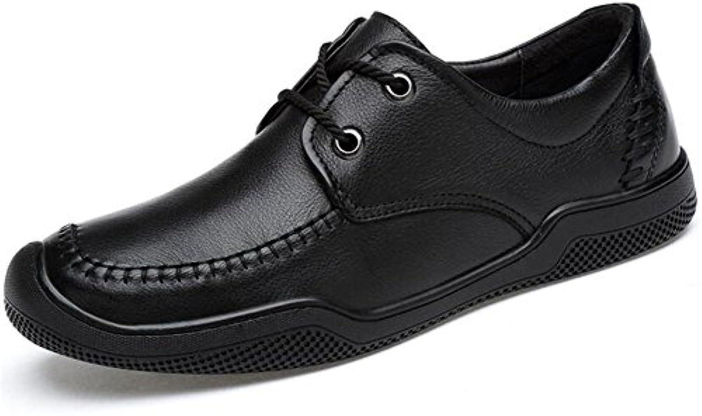 Männer Schuhe  Echtes Leder  Laumlssiges Derbyweisshe Sohlen  Unternehmen Boot Schnürsenkel Trainer Größe 39 bis 44