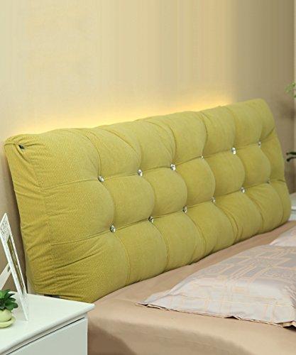 Xuping Matratzenauflagen aus Baumwolle Weiche Kopfstützen auf dem Bett Kissen große Kissen Separate Doppelbettkissen/Full/Large/extra Large (Color : Green, Size : 160 * 15 * 58cm)