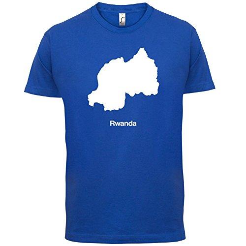 Rwanda / Ruanda Silhouette - Herren T-Shirt - 13 Farben Royalblau