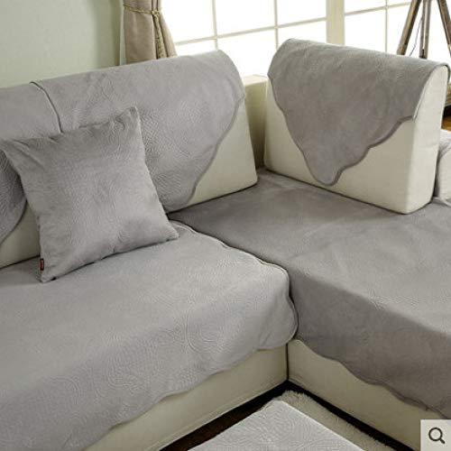 Herbst und Winter moderne minimalistische rutschfeste Plüsch Sofakissen Stoff vier Jahreszeiten Sofa Handtuch Sofa Set samt grau 90 * 70cm