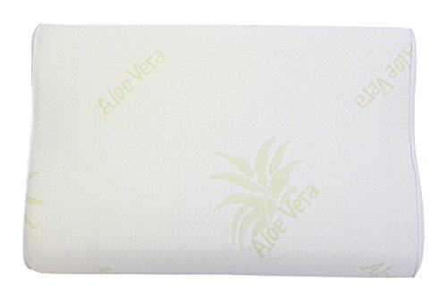 Best For You Orthopädisches Nackenkissen Aloe Vera 50x30x13 cm VISCO Memory Kopfkissen incl. Gratis Bezug