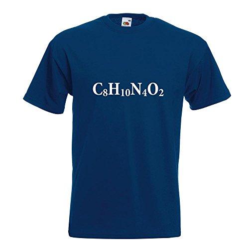 KIWISTAR - C8H10N4O2 Coffein - Koffein T-Shirt in 15 verschiedenen Farben - Herren Funshirt bedruckt Design Sprüche Spruch Motive Oberteil Baumwolle Print Größe S M L XL XXL Navy