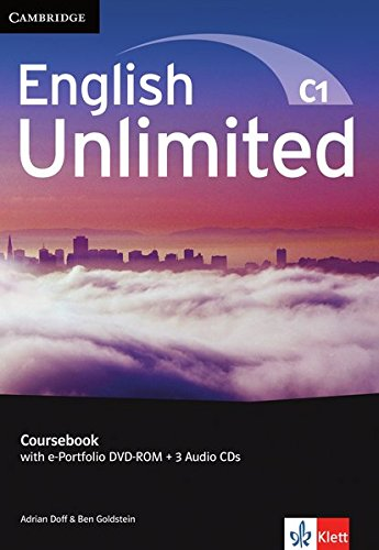 English Unlimited C1 - Advanced / Coursebook with e-Portfolio DVD-ROM + 3 Audio-CDs