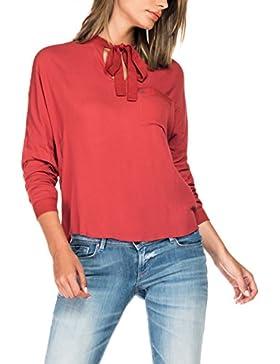 Diseño romántico doselera blusa de volantes de negro, blanco o rojo Chic Star