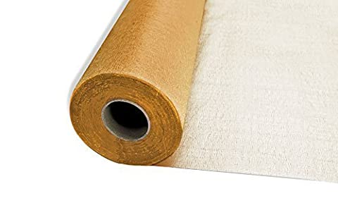 25m x 29cm Snow Sheer Organza Rolls Gold with Glitter Fabric - Perfect as Christmas, Wedding or Party Decorations by Trimming Shop