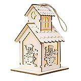 Happy Event Christmas Weihnachtsbaum LED-Licht Chalet Dekoration | Party Garten Hochzeits Verzierung | Zubehör für hängende Accessoires (C)