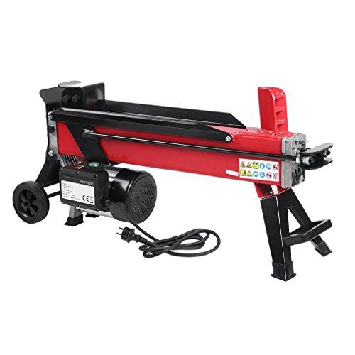 sweepid Fendeur de bûches électrique hydraulique 2200W Fendeur de bûches couché 7/520mm