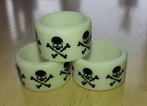 2 x Vape Bands Rings( Skull and Crossbones / White ) 19 x 12mm For RTA RDA Atomizer