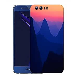 Snoogg Mountain Nite View Designer Protective Phone Back Case Cover For Huawei Honor 8