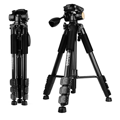 Leichtes Kamerastativ, tragbares Aluminium-Reise-Leichtkamera-Stativ für Canon Nikon Sony Samsung Olymp Panasonic Video-Camcorder DSLR DV