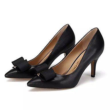 CH&TOU Da donna-Tacchi-Ufficio e lavoro / Formale / Casual-Con cinghia-Piatto-Pelle-Nero / Rosso / Pesca / Tessuto almond black