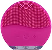 Waterproof Ultrasonic Silicone Face Cleansing Brush Massager Facial Skin Care