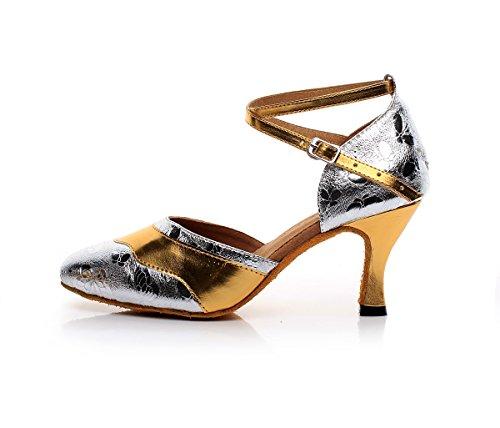Minitoo - Ballroom donna Silver-7.5cm Heel