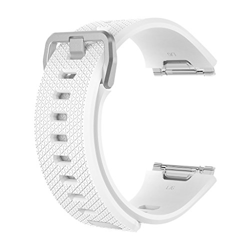 8' Das Weiße Band (Gazechimp Weich Silikon Armband Uhrenarmband Band Smart Watch Armbanduhr für Lonic 6.7-8'' - S - Weiß)